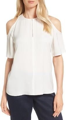 Women's Classiques Entier Cold Shoulder Silk Top $179 thestylecure.com