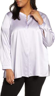 Eileen Fisher Band Collar Shirt