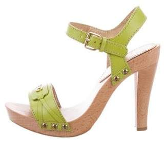Dolce & Gabbana Logo Slingback Sandals
