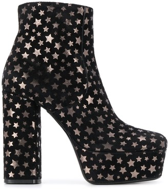 P.A.R.O.S.H. star print platform sandals