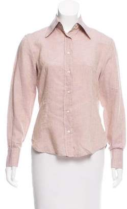 Etro Linen Button-Up Top