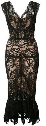 Nicole Miller sheer lace dress $575 thestylecure.com