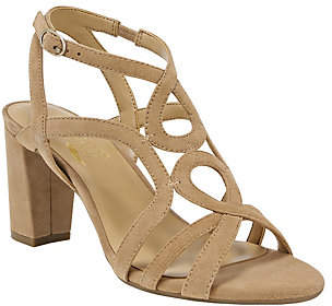 Aerosoles Heel Rest Leather Dress Sandals - Early Bird