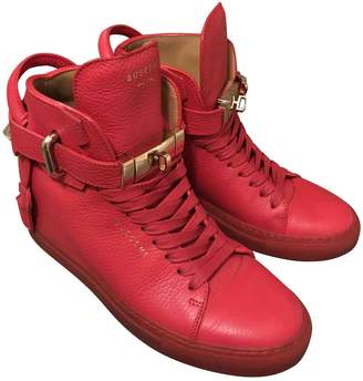 Buscemi Red Leather Trainers