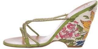Giuseppe Zanotti Embellished Slide Wedges