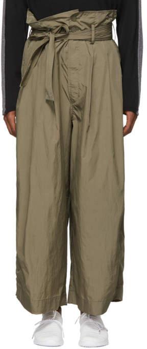 Beige Paper Boy Trousers