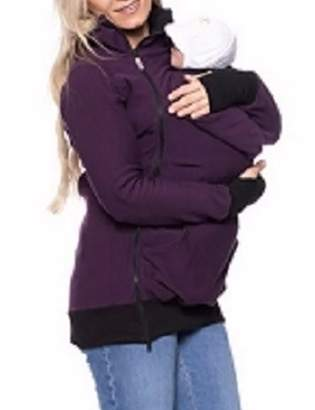 Sexyshine Women's Maternity Coat 3in1 Baby Carrier Jacket Kangaroo Hoodie Outwear (PE,S)