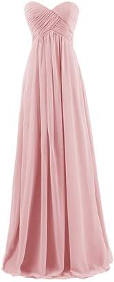 ThaliaDress Women's Empire Long Chiffon Bridesmaid Dress Prom Gown XL