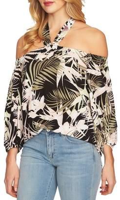 CeCe Soft Palms Off the Shoulder Halter Top
