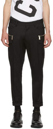 DSQUARED2 Black Wool Hockey Fit Trousers