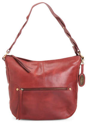 Leather Distressed Hobo