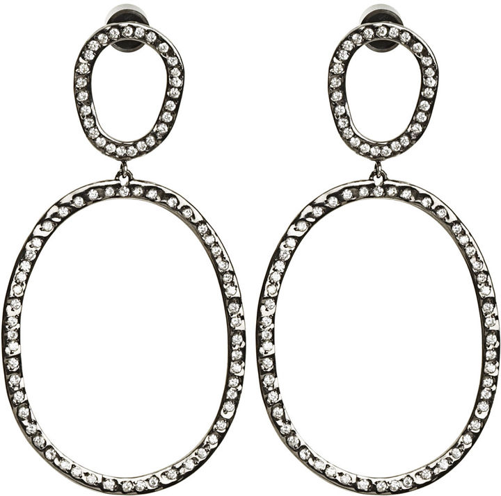Ileana Makri Diamond Again Hoop Earrings