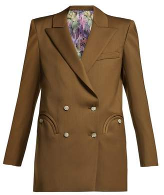 Blazé Milano Blaze Milano - X Arizona Muse Muscadet Organic Wool Blazer - Womens - Light Brown