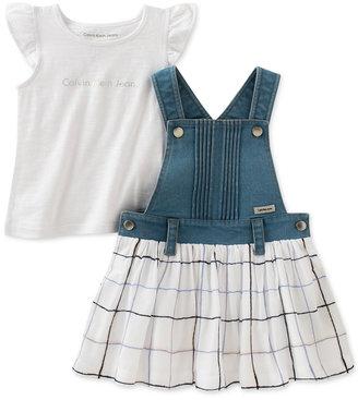 Calvin Klein 2-Pc. Dress & Shirt Set, Toddler & Little Girls (2T-6X) $55 thestylecure.com