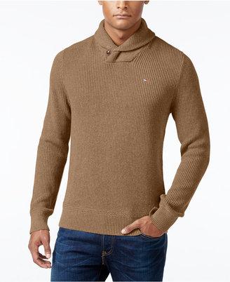Tommy Hilfiger Men's Harrington Shawl-Collar Sweater $89.50 thestylecure.com