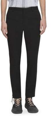 Lanvin Solid Cropped Wool Pants