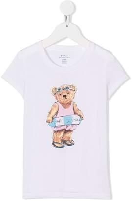 Ralph Lauren swimming bear print T-shirt