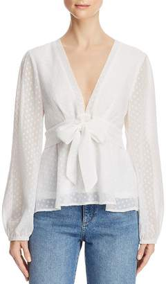 Fashion Union Hotty Tie-Waist Clip Dot Top