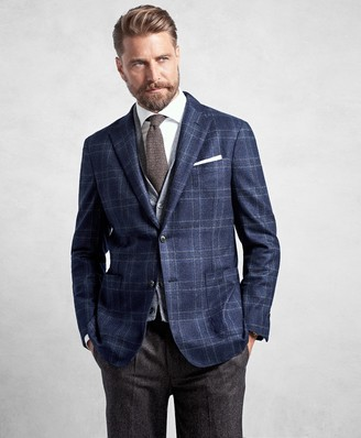 Brooks Brothers Golden Fleece Blue Plaid Sport Coat
