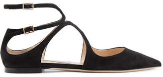 Jimmy Choo Lancer Suede Point-toe Flats