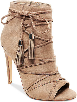 Madden Girl Korset Tie-Up Tassle Booties $69 thestylecure.com