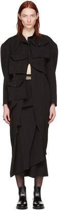 Yohji Yamamoto Black Multipocket Jacket $2,580 thestylecure.com