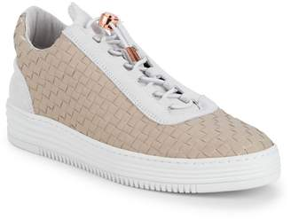 Filling Pieces Basket Weave Leather Drawstring Sneakers