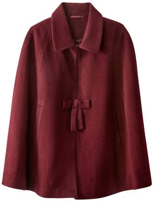 La Redoute COLLECTIONS Wool Blend Cape with Bow Detail