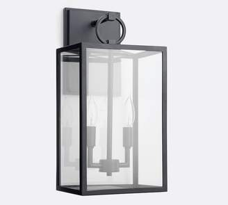 Pottery Barn Manor Indoor/Outdoor Contemporary Glass Sconce