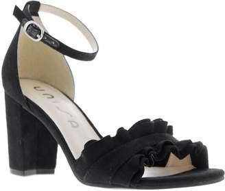 Unisa Dian Ruffled Ankle-Strap Sandals