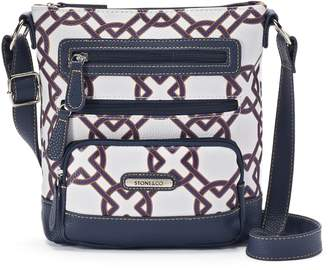 Co Stone & Knot Print Leather Crossbody Bag