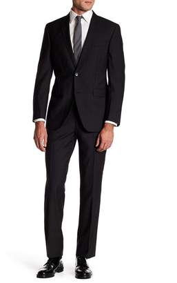 Kenneth Cole New York Trim Box Check Wool Suit
