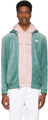 adidas Green Cozy Track Jacket