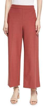 Rebecca Taylor Cropped Wide-Leg Suit Pants