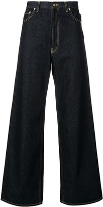Facetasm flared wide leg jeans