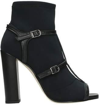 Marc Ellis Black Open Toe Ankle Boots