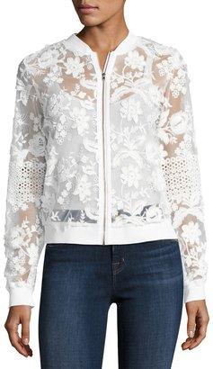 T Tahari Lace Bomber Jacket $119 thestylecure.com