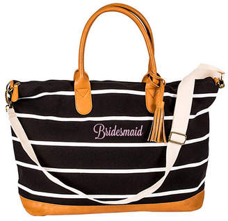 Cathy's Concepts Cathy Concepts Bridesmaid Striped Weekender Tote