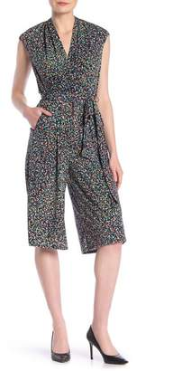 London Times Patterned Surplice Jumpsuit (Petite)