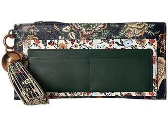 Tory Burch Floral Tassel Top Zip Wallet Wallet Handbags