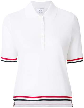 Thom Browne knitted polo-style short sleeved top