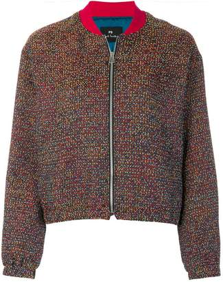 Paul Smith knit bomber jacket