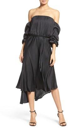 Women's Bardot Statement Sleeve Blouson Dress $99 thestylecure.com
