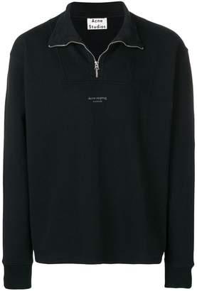 Acne Studios zippered polo sweatshirt