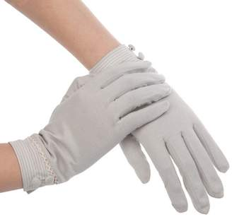 Kenmont Summer Women Sun Uv Protection Outdoor Solid Color Cotton Driving Gloves