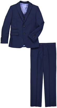 Isaac Mizrahi Printed Notch Lapel Suit
