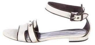 Balenciaga Raffia Ankle Strap Sandals