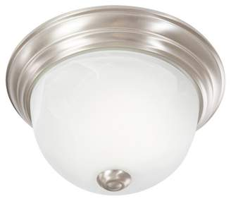 Yosemite Home Decor Yosemite One Light Flush Mount Satin Nickel