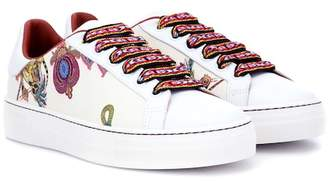 Etro Printed leather sneakers