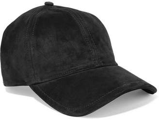 Rag & Bone Marilyn Leather-trimmed Suede Baseball Cap - Black